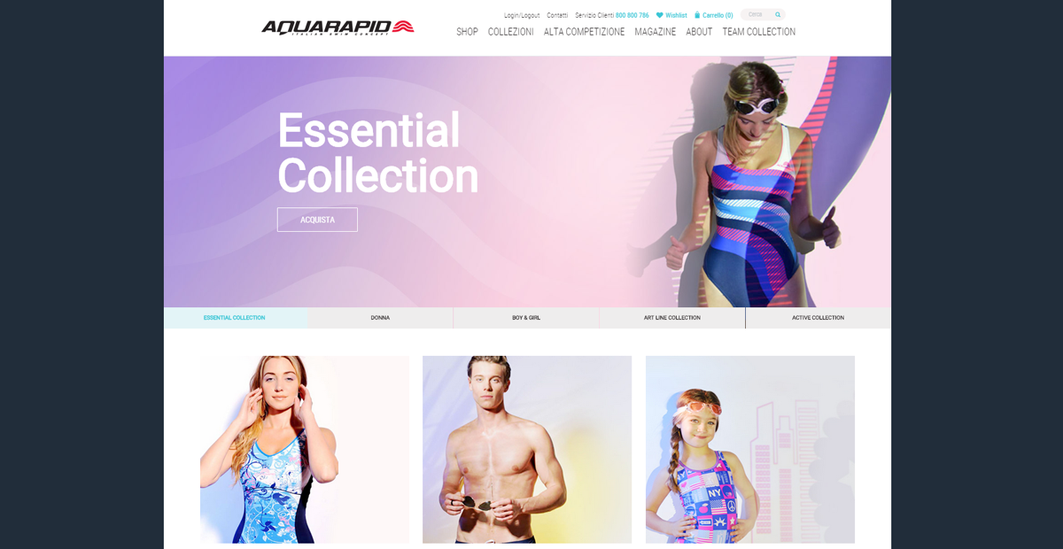 Aquarapid sito web by websolute