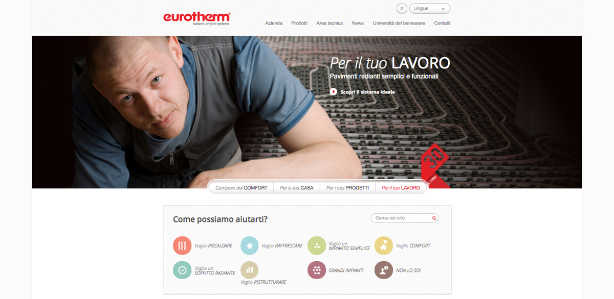 Sito Eurotherm by websolute
